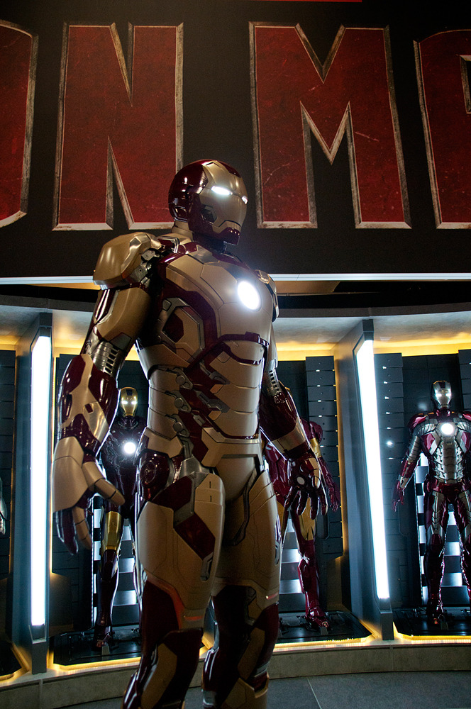 marvelentertainment:  More photos of Iron Man's new Iron Man 3 armor at Comic-Con International San Diego 2012. Pictures by Judith Stephens.