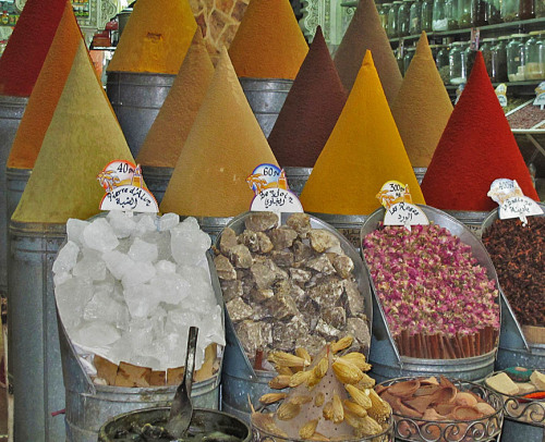 tammystravels1959:  Marrakech Morocco - spices at the market