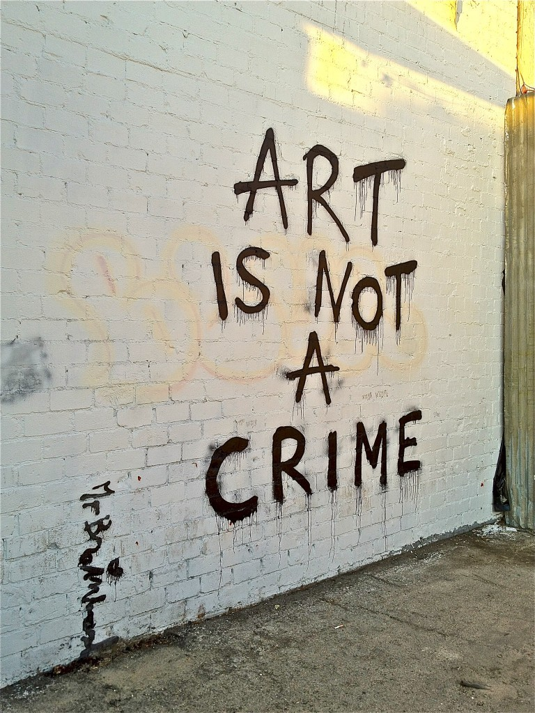 Art is not a crime…