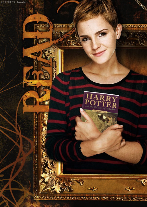 I changed the book in the picture to Emma's favorite Harry Potter book. The original book was 'Romeo and Juliet' by William Shakespeare. HERE.