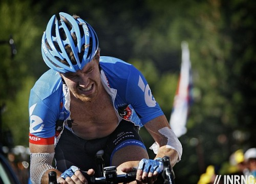 "Tyler Farrar, lanterne rousse. The American is last overall in the Tour de France, 2:37:16 behind Bradley Wiggins. But after 2402km it's not a big margin. Cycling is one of the few sports that venerates losers. This is because it is relative. Farrar might be last but that means he's struggling with injuries and misfortune that would overwhelm most. Consequently the last rider is often the bravest, fighting pain as well as the road. In the Tour de France the last rider is called the lanterne rouge or ""red light"", as if they are the last wagon on a train."