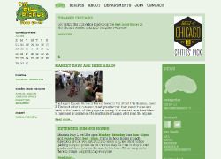 THE DILL PICKLE FOOD CO-OP - Interface + Newsletter Designs, Department Illustrations - The Dill Pickle Food Co-op came to us with a logo they wanted to retain, while developing a more robust brand identity to frame the website interface and in-store DIY signage within. The primary challenge was to identify the most successful components of their existing identity and parlay those references into a compatible and expandable brand system for website navigation, grocery/product departments, the Brine newsletter, print ads and signage. What emerged in our illustrations, palette application and wayfinding templates was a reinforcement of the hand-made, artisanal quality (and cheekiness) of the Dill Pickle brand, while allowing for the ongoing development of original/DIY content with a consistent look and feel from hand-drawn signage to blog post. http://dillpickle.coop