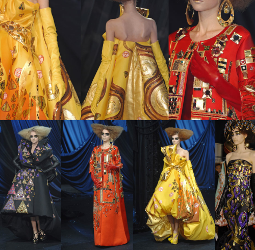 fashioncomments:  Happy 150th birthday Mr.Gustav Klimt -An homage to Klimt by Galliano when he was at Dior - Haute Couture Spring Summer 2008