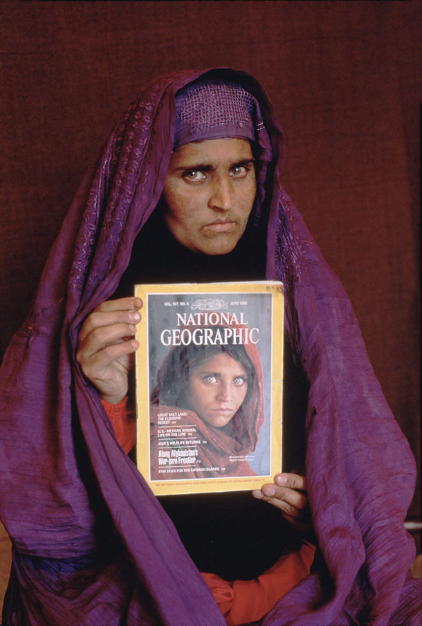bugwork:  Then and now.  Steve McCurry's 'Afghan Girl'