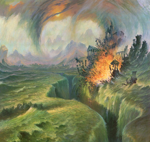 The submerging of Numenor.