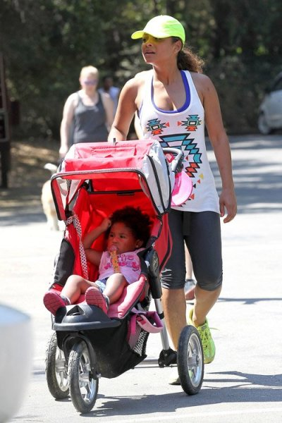 Christina Milian with her daughter,Violet, out in LA earlier this week…