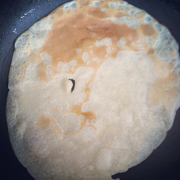 Making vegan crepes with @jennafain  (Taken with Instagram)