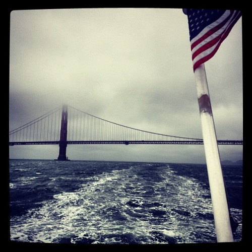 The Golden Gate Bridge from a Boat (Taken with Instagram)