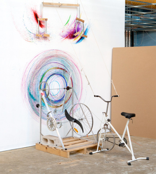 Drawing machine from a modified bike, by Joseph L. Griffiths.