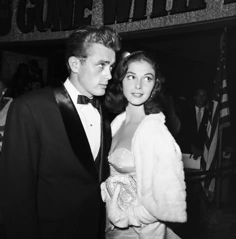 James Dean with Pier Angeli - whom he later claimed was the only woman he ever really loved.