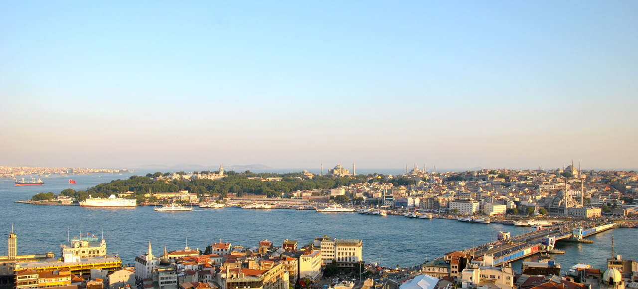 Looking south from the Galata tower. Istanbul, Turkey      (14 July 2012)