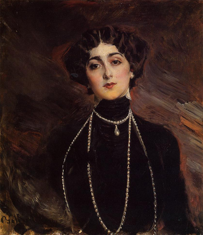 Portrait of pera singer Lina Cavalieri | artwork by Giovanni Boldini