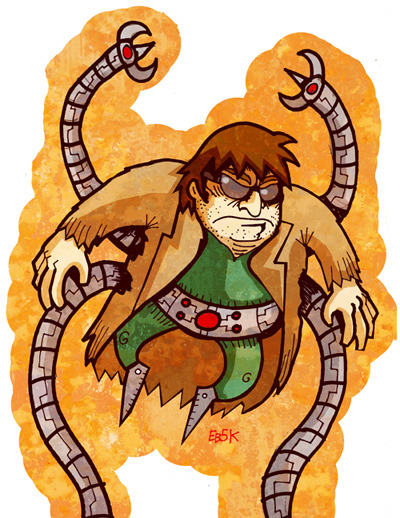 New drawing: Doc Ock! Another in my series of prints for Universe of Superheroes…