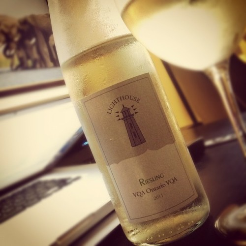 Lighthouse Riesling 2011 (Canada) #acceptable w/ @starlexis #white #wine #VQA #pelee #island #winery #ontario #canada  (Taken with Instagram)