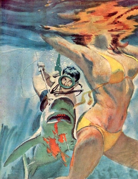 robotcosmonaut:  The Shark Who Hated Women via vintagecoolillustrated