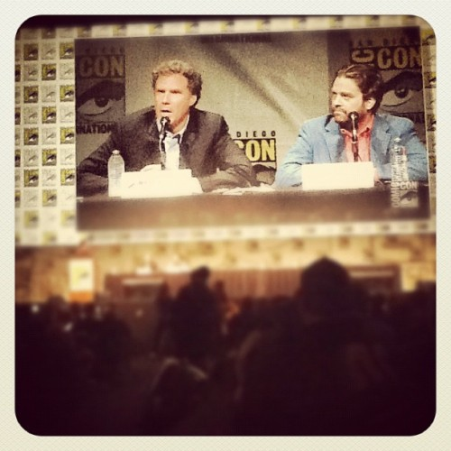 Will Ferrell & Zach Galifiniakis #thecampaign #sdcc  (Taken with Instagram)