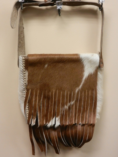 New in the Shop: Vintage Cowhide Shoulder Bag. SOLD.