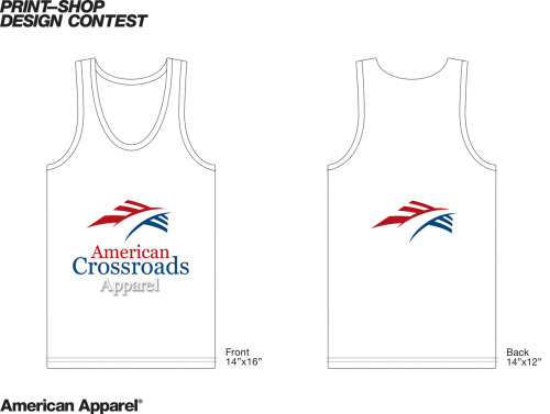 American Apparel t-shirt design contest submission #3 AMERICAN CROSSROADS APPAREL TANK, 2012 ☐