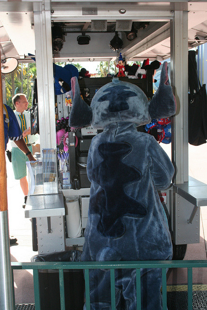 Stitch causing trouble on Flickr.Stitch will be your cashier today!