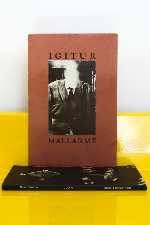 Stephane Mallarmé, Igitur Cover by Wallace Berman I've always lived with my soul fixed on the clock. The Press of the Pegacycle Lady, Los Angeles, 1974 Hand numbered as 360 of  500 copies $175 PURCHASE
