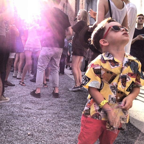 Best dressed kid in the Moma Ps1 Warm Up 2012! #childrenwear #fashion #nyc #newyorkcity #style #shade #photooftheday #instagood #astoria  #momaps1 #ps1 (Taken with Instagram at Wendy)