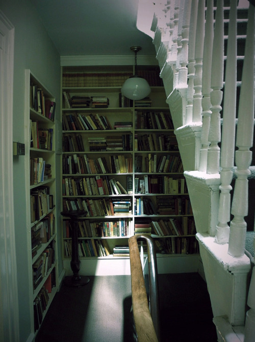 teachingliteracy:  books on the staircase (by omoo)