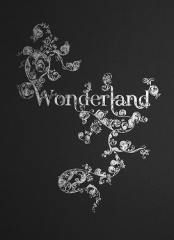 drawing girl quote Black and White text words flowers Alice In Wonderland alice bw wonderland black and white blog