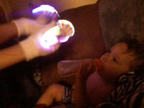 I give babies lightshows.