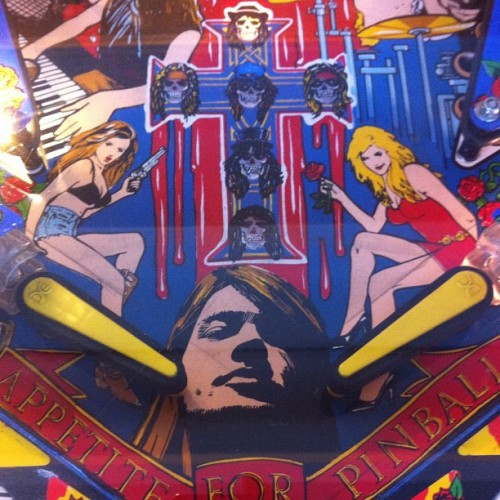 Appetite for pinball, the Guns N Roses pinball machine. (Taken with Instagram at Silverball Museum)