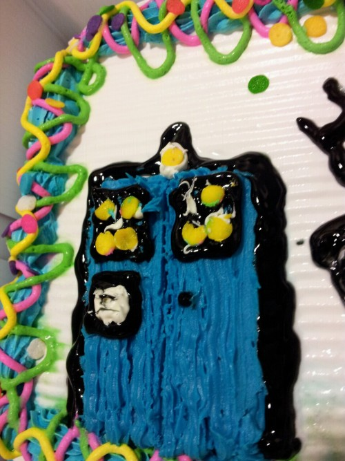 TARDIS on a ice cream cake…  Yum