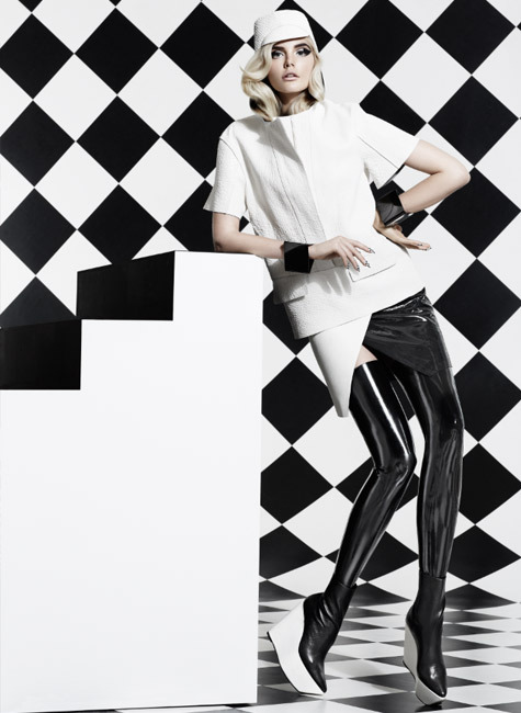 coco-lagerfeld:  Star Struck's Black and White August 2012 issue  Photographed by Moo. Styled by George Antonopoulos.