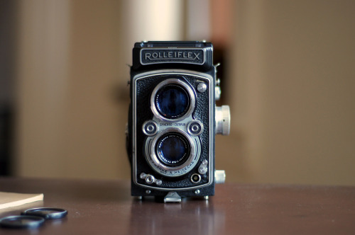 My 1950's Rolleiflex Check out this cool instructional video on how to use this if you're not familiar.