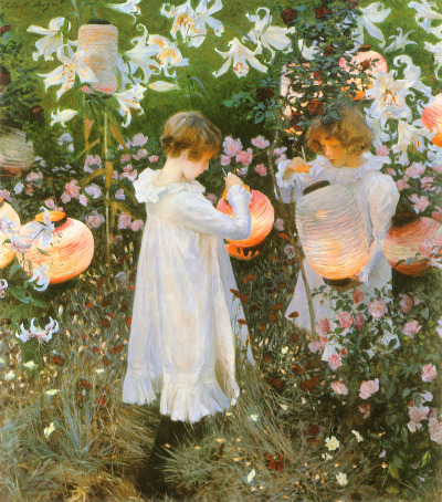 no-secret-sphinxes:  Carnation, Lily, Lily, Rose, John Singer Sargent, 1885-6.