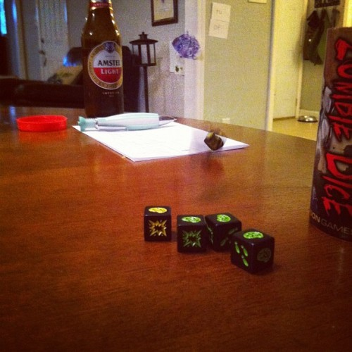 Zombie Dice #boardgames #gamenight  (Taken with Instagram)