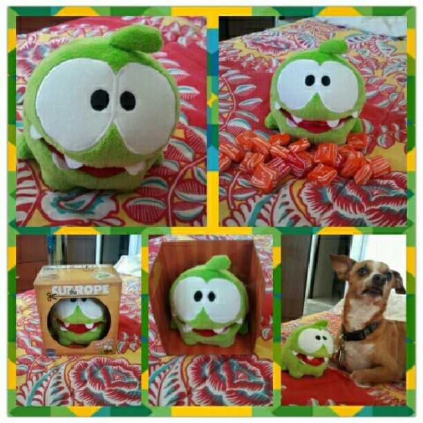 Cut the rope toy from my hubby (Taken with Instagram)