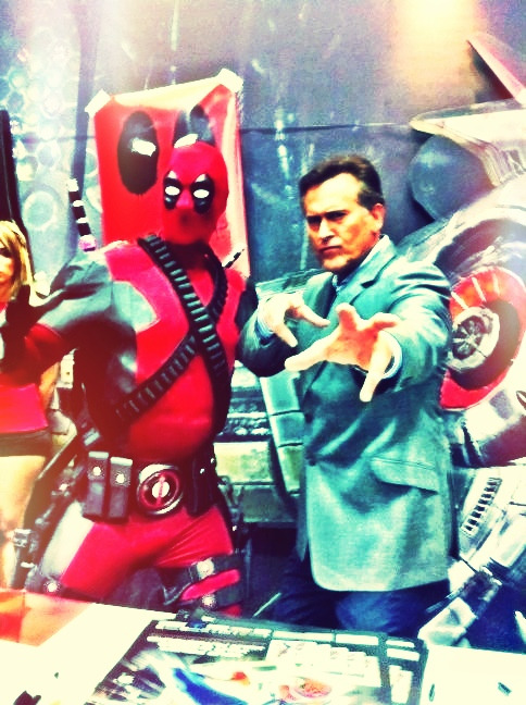 Bruce Campbell & Deadpool (please note, I got this photo from Bruce Campbell's twitter)