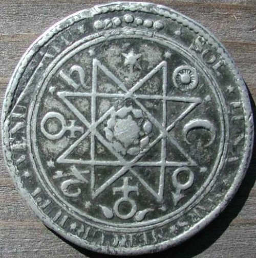 A Rosicrucian alchemical medal ~17th century