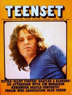 newmanology:  Teen Set, June 1968On the cover: Jim Morrison See some classic Jim Morrison photographs at Boom Underground, who is posting them as part of a month-long series on Hunks We Were Hot For, male heart-throbs from the 1960s & 70s. Source: Jim Morrison