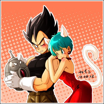 And here comes the Vegeta/Bulma spam! from The Sky Upside Down