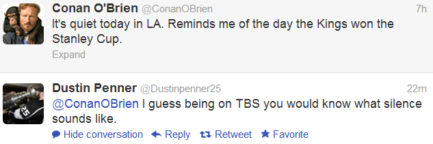wefinallywon:  Dustin Penner vs. Conan O'Brien   Can I be on both sides of this?