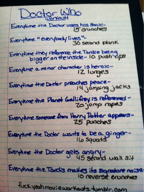 thinjenn:  definitely doing this…doctor who is life