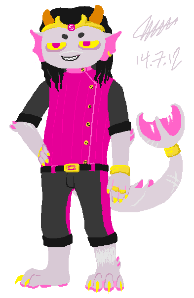 i drew a dion pawtroll he says he is the PR——ETTIEST pawtroll and you can polish his bulge