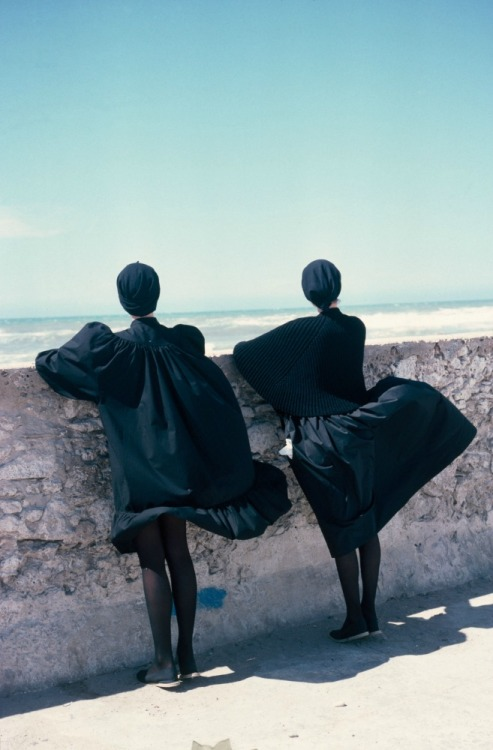 Photographed by Sacha Van Dorssen in Essaouira, Morroco for Marie Claire, 1981