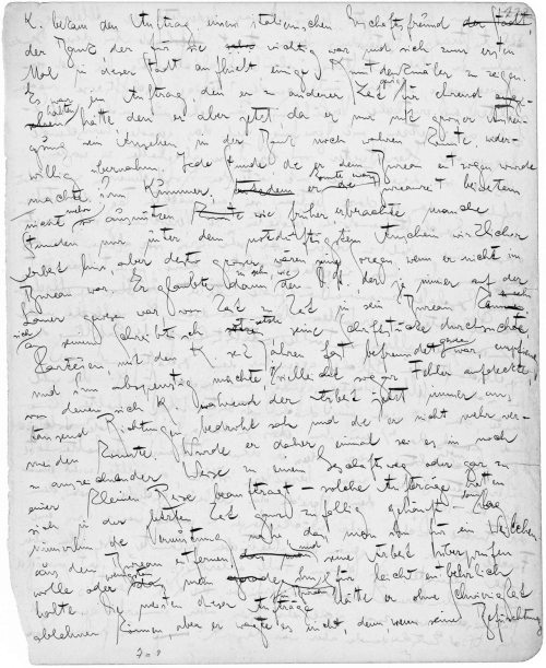 A page from Franz Kafka's manuscript for The Trial