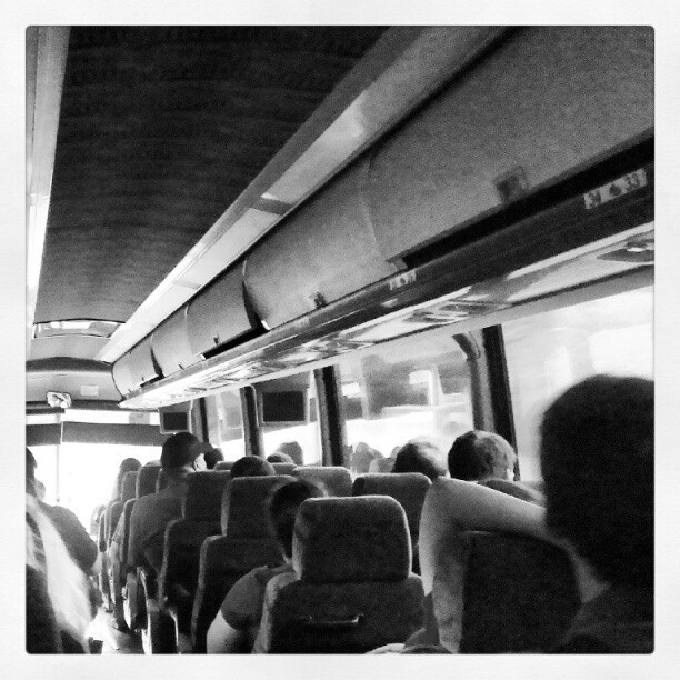 There is nothing like riding on a packed bus full of strangers but knowing you would still get along with all of them. (Taken with Instagram)