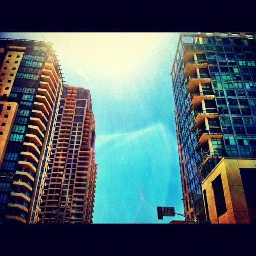 Day 14: Building. Downtown SD buildings. Gotta love this! #july #photo #challenege #photography #sd #sandiego #san #diego #sun #beam #buildings #windows #downtown #california #calidream #blue #sky #igers #instago #instahub #instadaily #instagramhub #instagrammers #2012 #summer #life #iphoneonly #iphoneology #iphonetography #jj_forum #pics #tall #skyisthelimit #pisoftheday #bestoftheday  (Taken with Instagram)