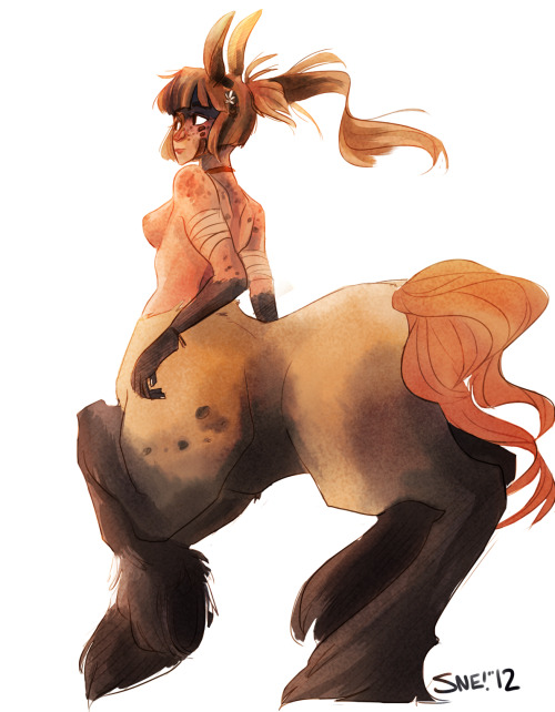 nikoesdoodles:  30 Day Monster Girl Challenge - Day 2 Centaur fuggghh i give up with this one I gotta finish the other two!! uvu gotta catch uppp