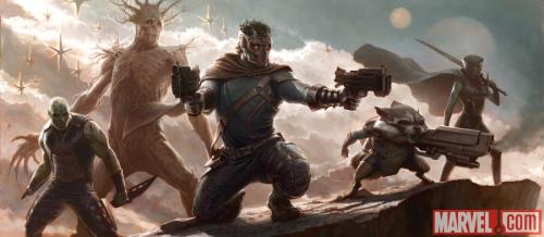 "First ""Guardians of the Galaxy"" concept art."