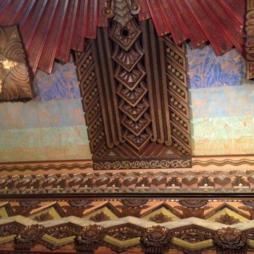 Over the stage, Warner Grand Theater (Taken with Instagram at Warner Grand Theatre)