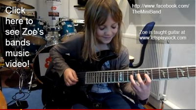 8 Year Old The Mini Band Guitarist Zoe Thomson Working On Stratosphere By Stratovarius.